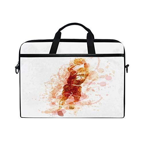 HaJie Laptoptasche, abstrakte Basketball-Sportspieler, Computer-Tasche, 14-14,5 Zoll, Schutztasche, Reise-Aktentasche mit Schultergurt für Männer, Frauen, Jungen, Mädchen