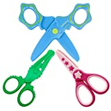 Veaoiy Tijeras Coloridas Decorativas 3Pcs Tijeras de Seguridad para Niños Preescolar...
