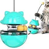 Interaktives Katzenspielzeug Intelligenz Rollball Futter-Spender - wojonifuiliy Interaktives Spielzeug für Katzen Hunde Haustier Tumbler Haustierfutter Katzenleckerli Slow Training Feeder (B-BU)