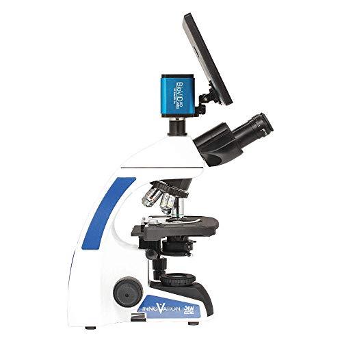 LW Scientific Innovation Trinocular Microscope w/BioVIEW Camera and Monitor, INS-T4BV-IPL3