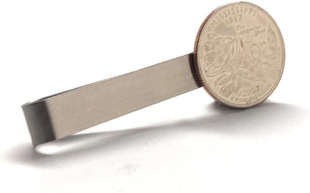 Williams and Clark Tie Clip Collector Missouri State Quarter Enamel Coin Tie Bar Travel Souvenir Coins Keepsakes Cool Fun