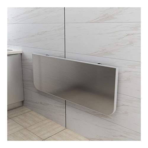 Acero Inoxidable de Pared Plegable Hogar Pequeño Apartamento Mesa de Comedor Pared del Tablero del Estante (Size : 60 * 40cm)