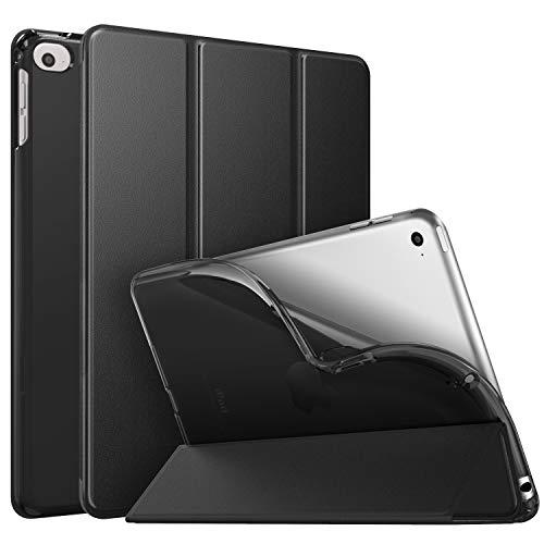 MoKo Cover per New iPad Mini 5th Generation 7.9  2019   iPad Mini 4 2015, Ultra Sottile Leggero Custodia Auto Sveglia Sonno con Retro Semi-trasparente in TPU - Nero