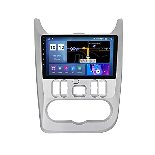 YIJIAREN Radio GPS Navegación para REN-Ault Logan 2009-2015, Pantalla táctil IPS Android 10.0 Coche Estéreo Sat Nav Soporte de Control del Volante BT FM Mirror-Link 4G WiFi
