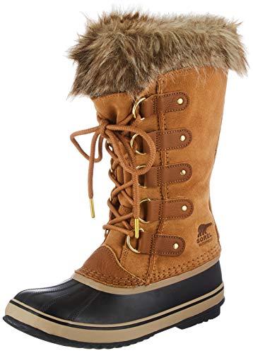 Sorel Women's Joan of Arctic Boot - Rain and Snow - Waterproof - Black, Camel Brown - Size 7