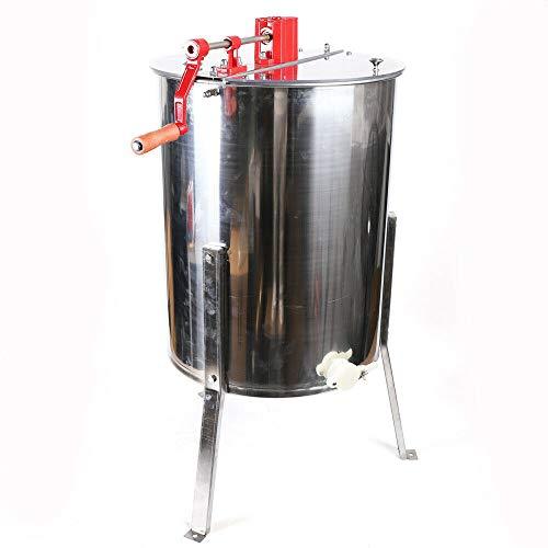 Extractor de miel universal, 4 marcos, centrifugadora manual con 2 tapas desmontables, de acero inoxidable, para todas las bolsas comunes, luciopercas, DN