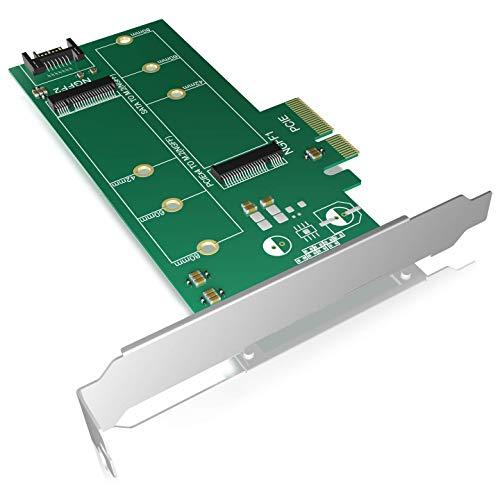 ICY BOX IB-PCI209 PCI-Karte unterstuetzt 2x M.2 SSD zu SATA III und PCIe x4 Host
