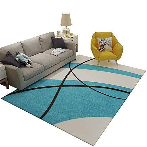 YOCASA Wohnzimmer Rutschfester Teppich, Schlafzimmer Computer Stuhl Drehstuhl Teppiche Bodenmatte (Größe: Durchmesser-80 cm)