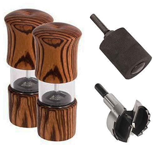 Penn State Industries PKGR10SS Easy Elegance Peppermill Mechanism Kit Starter Package Woodturning Project