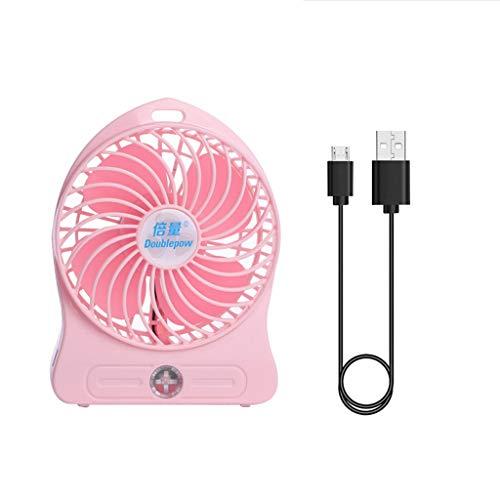 GREEN&RARE Ventilador de mano, ventilador de camping, sin batería 18650, ventilador portátil al aire libre, ventilador USB de escritorio, enfriador de silencio para PC portátil Powebank cargador USB