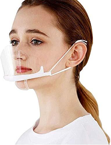 PANHU 10 Stück Transparente Offene Maske/Mundschild, Food Handler Maske, Professionelle Transparente Gesundheitsschutzmaske Für Restaurant, Permanent Make-up, Catering