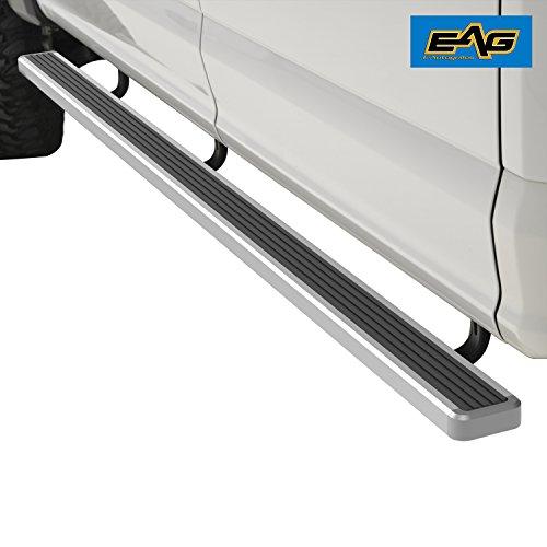 "EAG Aluminum Running Board/Nerf Bar 80""x4"" W/Brackets Fit for 02-08 Ram 1500/2500/3500 Regular Cab 1500 Quad Cab 03-09 Ram 2500/3500 Quad Cab"