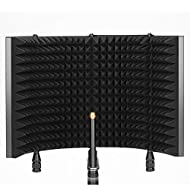 Improved Mic Sound Quality: This microphone isolation shield optimizes your recordings by absorbing sound waves, filtering ambient noise, and reducing sound reflections. Ideal for podcasting, vocal and instrumental recording, and live streaming 3 Fil...