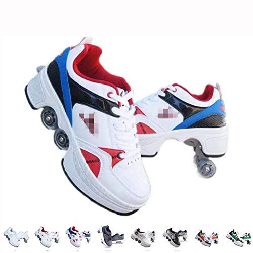 BDXZJ Zapatos con Ruedas Zapatos Skate para Mujeres, Unisex Automática de Skate Zapatillas, Hombres, Niños Zapatos con Ruedas para Regalo Unisex