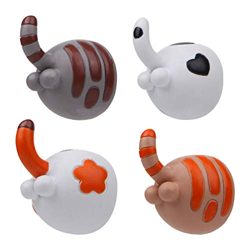 BESPORTBLE 4 Piezas de Pegatinas Magnéticas Creativas en Forma de Asno de Gato Delicadas Tridimensionales Lindas Hebillas Magnéticas para El Hogar