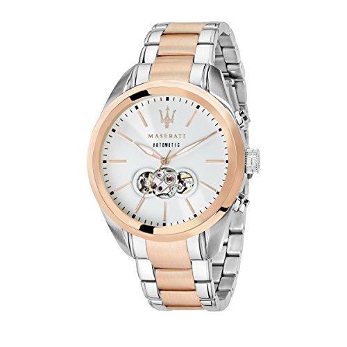 MASERATI Herren Analog Automatik Smart Watch Armbanduhr mit Edelstahl Armband R8823112001