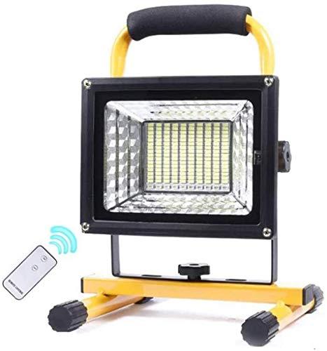 GANE Tragbares LED-Flutlicht mit 500 W, superheller Konstruktionsscheinwerfer mit Fernbedienung, 3 Helligkeitsmodi, Blauer und roter SOS-Blitz, 8000-mAh-Akku, Flutlicht