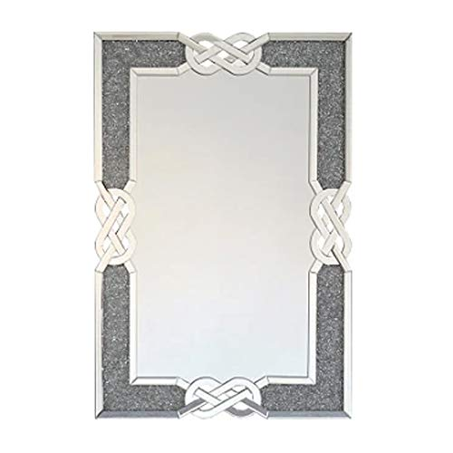 Sassy Home Crushed Diamante Jewel Crystal Celtic Knot Frame Wall Mirror, 80 x 120 x 3.5cm, One Colour