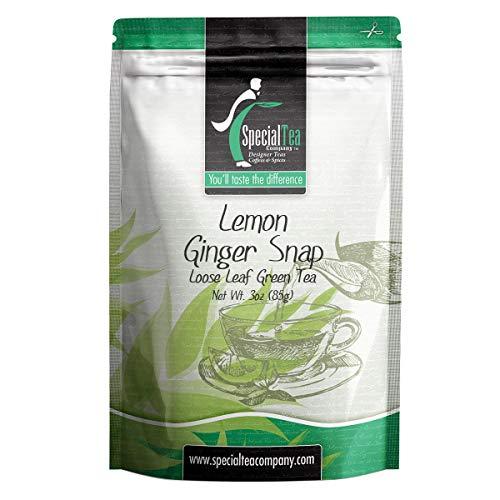 Special Tea Company Lemon Ginger Snap Organic Green Tea, Loose Leaf 3 oz.