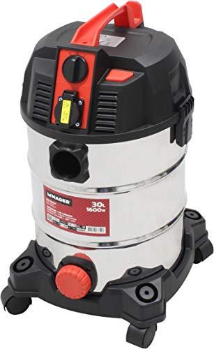 Mader Power Tools 63352 Aspirador Polvo Liquidos Inox 1600W 30L, Multicolor, Talla Única