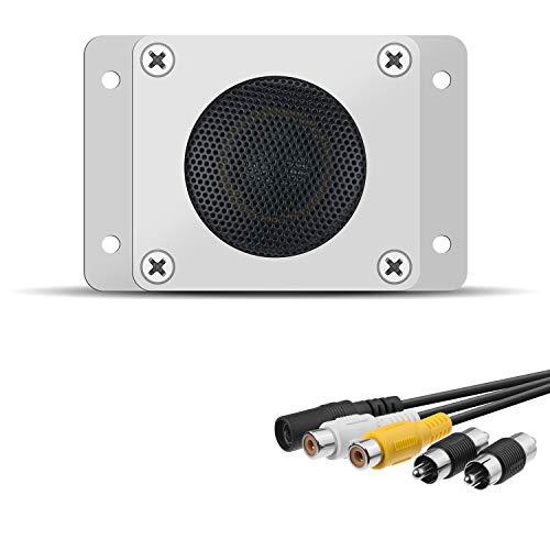 ZILNK Outdoor Lautsprecher Hochempfindliches Mikrofon Audio-Aufnahme Aussen, 2 in 1-Gerät für IP-Kamera,Überwachung CCTV,Überwachungskamera,DVR/NVR, Wasserdicht, RCA, Innen/Draussen, Zwei-Wege-Audio