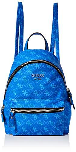 Guess Damen Leeza Small Backpack Rucksack, Blau (Blue), 10.5x29x22 centimeters