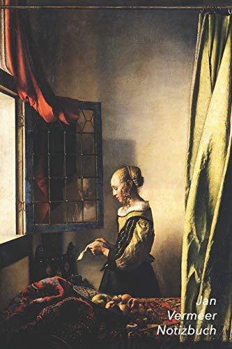 Jan Vermeer Notizbuch: Briefleserin am offenen Fenster   Modisches Tagebuch   Ideal für die Schule, Studium, Rezepte oder Passwörtern zu schreiben   Perfekt für Notizen