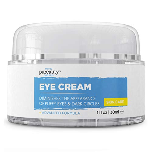 Eye Cream for Dark Circles and Puffiness, Best Eye Cream for Dark Circles with Caffeine, Hyaluronic Acid and Cucumber Extract, Anti-Aging Eye Cream for Men & Women - Pureauty Naturals - 30ml
