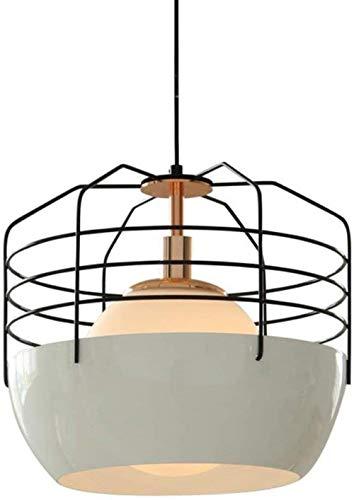 Metal Hollow Single Head Ceiling Pendant Lamp Verstelbare 1 Light hanglamp ingerichte slaapkamer woonkamer, L, Maat: Small (Size : Large)