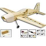 EP EX330 Avion de Formation en Bois de balsa 1.0 M Envergure Biplan RC Avion Modèle d'avion Jouets DIY KIT / PNP pour Enfant (Couleur Bois) FRjasnyfall