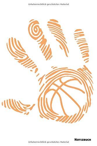 Notizbuch: Basketball Handabdruck (liniert)