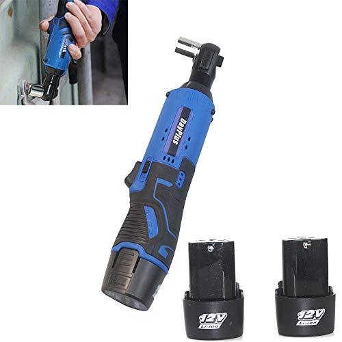 """3/8\"""" 12V Akku-Ratschenschlüssel, 40 Nm Drehmomentschlüssel-Werkzeugsatz mit maximalem Drehmoment, 2 x 1500mAh Lithium Batterien und 1 Schnellladegerät, 7 fach Steckdose, eingebautes LED Arbeitslicht"""