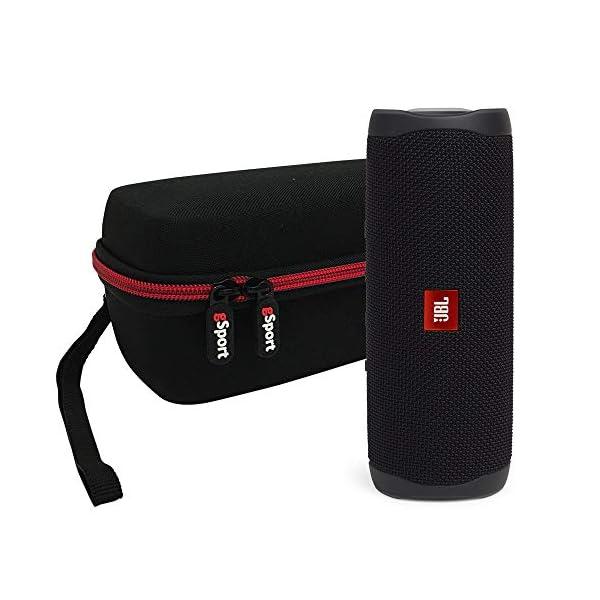 JBL FLIP 5 Portable Speaker IPX7 Waterproof Bundle with gSport Deluxe Hardshell Case (Multiple Colors) 3