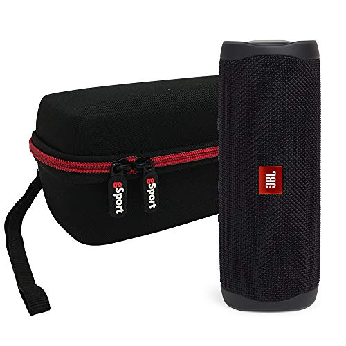 JBL FLIP 5 Portable Speaker IPX7 Waterproof Bundle with gSport Deluxe Hardshell Case (Black)
