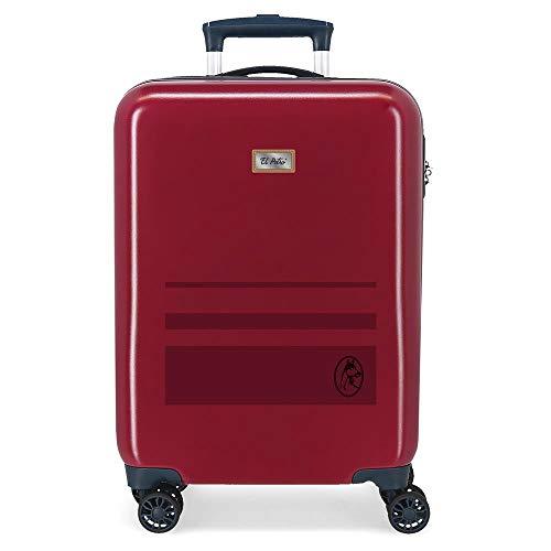 El Potro Chic Maleta de Cabina Rojo 38x55x20 cms Rígida ABS Cierre de combinación Lateral 41,8L 2,66 kgs 4 Equipaje de Mano