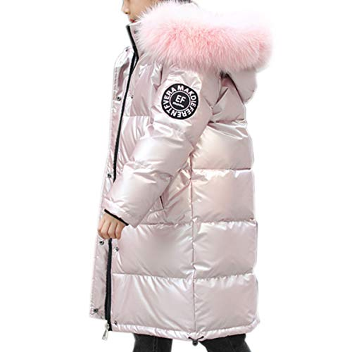 Coats Bambini Down Jacket Inverno Unisex Ricco Bianco Anatra Piumino Bambina Bambino Lungo Sezione di Addensamento Pink-150