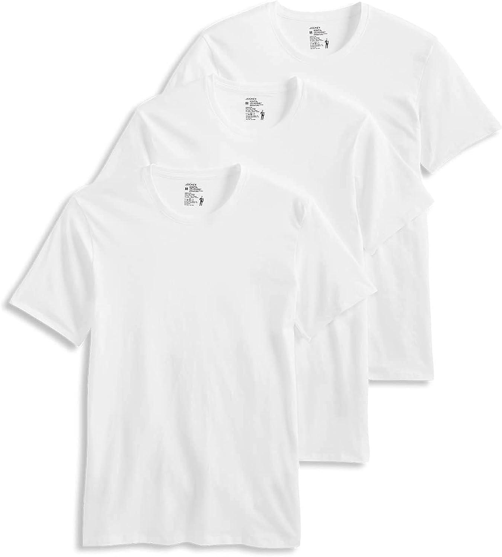 Jockey Men's T-Shirts Cotton Stretch Crew Neck T-Shirt - 3 Pack