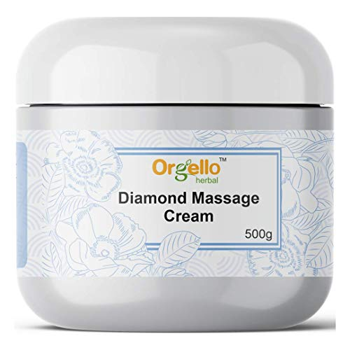 Orgello Herbal Diamond Moisturizer Facial Massage Cream for Face (1 x 500 gm.) - oily dry normal combination skin, men women girls boys - Salon Parlour Pack Products