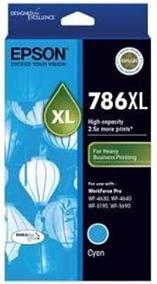 EPSON 786XL High Capacity DURABrite Ultra Cyan Ink - Workforce Pro WF-4630, WF-4640