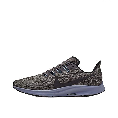 Nike Men's Air Zoom Pegasus 36 Trail Running Shoes, Multicolour (Thunder Grey/Black/Pumice/Stellar Indigo 8), 6.5 UK