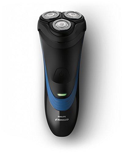 Philips Norelco Shaver 2100 S1560/81 - Afeitadora (Máquina de afeitar de rotación, SH30, Negro, Azul, Batería, Ión de litio, 35 h)