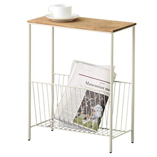 YCDJCS Beistelltische Nachttisch Nordic Iron Art Wohnzimmer-Sofa Beistelltisch Korridor Corner Storage Table Bed Metall Magazine Rack-Multifunktions-Couchtisch (Color : Weiß, Size : 40 * 20 * 50 cm)