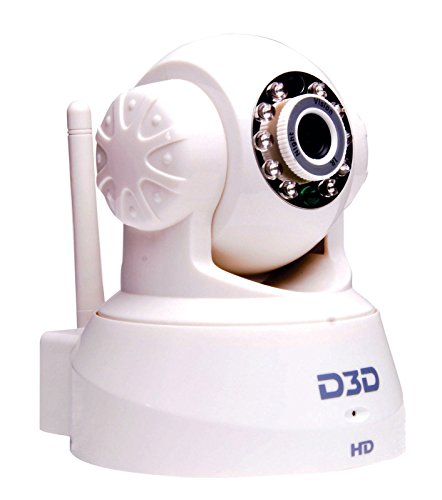 D3D Wireless HD IP Wi-Fi Indoor Security Camera (Support Micro SD Card) (White Color) Model: JPT de 3815white