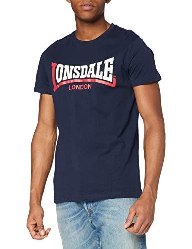 Lonsdale Herren Langarmshirt T-shirt Trägerhemd Two Tone blau (marineblau) X-Large