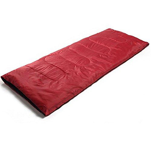 Mitefu Pure Couleur enveloppes Sac de couchage Camping léger momie en trois saisons du printemps d'été d'automne, chaud confortable et étanche, 179,8 x 76,2 cm, Red