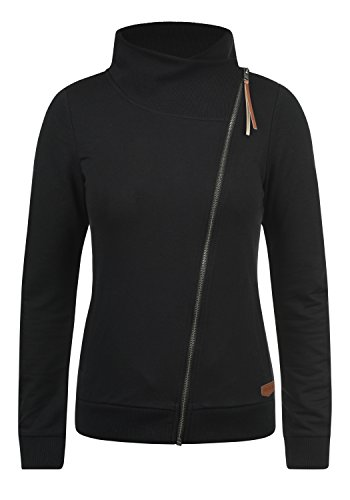 DESIRES Candy Damen Sweatjacke Jacke Sweatshirtjacke Mit Stehkragen, Größe:L, Farbe:Black (9000)