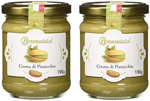 2 Stück - Brontedolci Pistaziencreme süß mit 40% Pistazien aus Sizilien (Ätna) 2x 190g