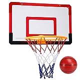 MHCYKJ Mini Canasta Baloncesto Habitacion De Puerta Juego Montado En La Pared para Niños Basquetbol con Bola Y Bomba Pelotas Puertas Casa Oficina