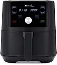 Instant Vortex 4-in-1 Basket Air Fryer with 4 Customizable One-Touch Cooking Programs, Digital Touchscreen, Large Non-Stick Fryer Basket, and 6 Quart Capacity, Black