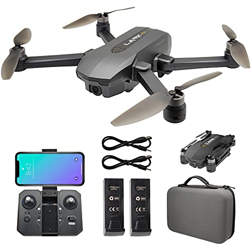 Riison GPS 4K UHD Drone with 130°FOV Camera Camera for Adults , 5Ghz FPV Transmission, Brushless Motor, Auto Return Home, Follow Me, Tap Fly, Auto Hover, Foldable RC Quadcopter with Carry Case